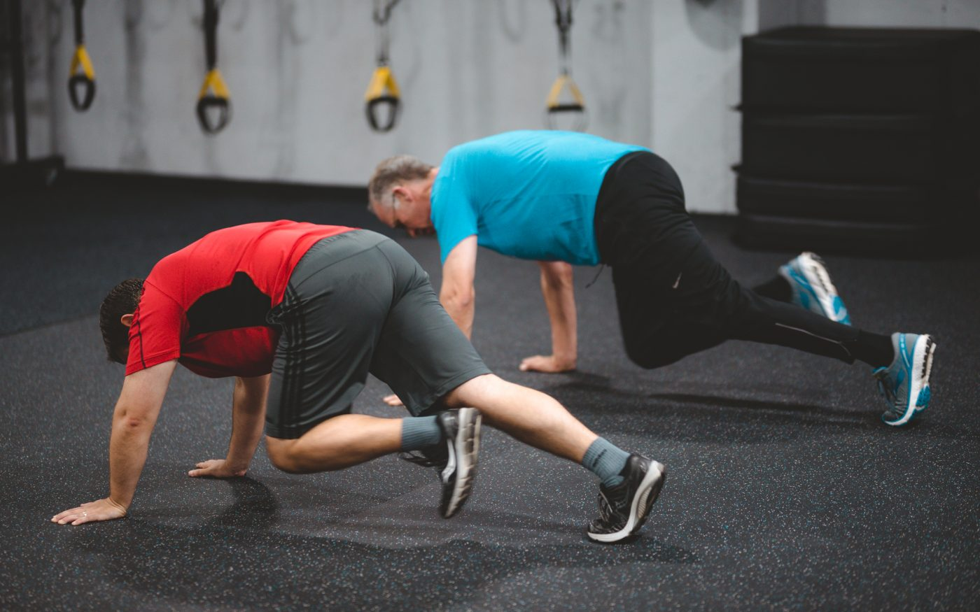 two men doing exercises