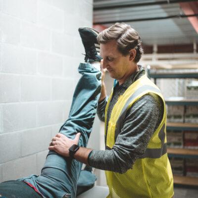 Industrial medicine worker